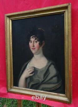 Portrait de Femme Epoque Ier Empire Huile/Toile XIXème siècle Ecole Germanique