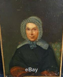 Portrait de Femme Epoque Louis Philippe Ecole Française XIXème Siècle HST