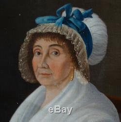 Portrait de Femme Epoque Premier Empire Ecole Française XIXème Siècle HST