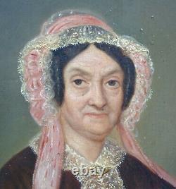 Portrait de Femme d'Epoque Second Empire Ecole Française du XIXème siècle HSP