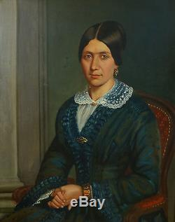 Portrait de femme Epoque Second Empire Ecole française HST XIXème siècle