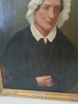 Portrait de femme ancien, huile sur toile, époque XIX ème s