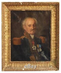 Portrait militaire époque XIXème Général Comte Pierre-Augustin Hulin (1758-1841)