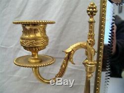 Psyché de table de style Louis XVI en bronze doré époque XIX ème siècle