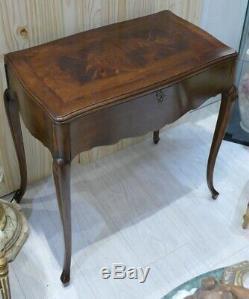 Rare Coiffeuse Table De Toilette à Transformation, Style Louis XV, époque XIX èm