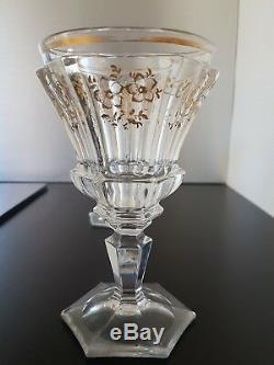 Rare Paire De Verres En Cristal De Baccarat Époque Louis-Philippe dorure xixeme