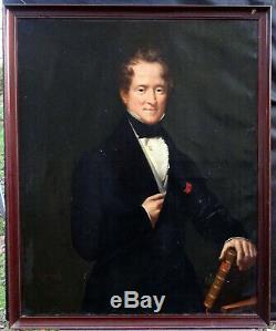 Raymond-rené Aiffre Portrait d'Homme Epoque Louis Philippe XIXème Siècle Huile
