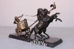 Régule Char Et Gladiateur Epoque Fin XIXème