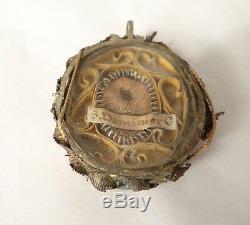 Reliquaire argent massif Saint Dominicie époque XIXème
