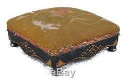 Repose-pied d'époque XIXème en bois laqué
