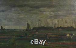 Scène de labour par C. F Daubigny époque XIXème
