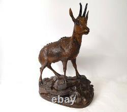 Sculpture bois Black Forest chamoix époque XIXème