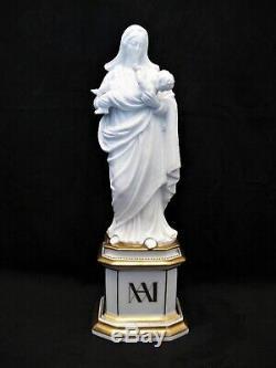 Sculpture porcelaine Vieux Paris vierge à l'enfant époque XIX ème siècle