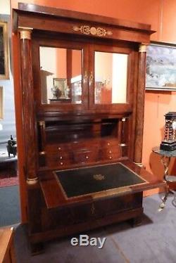 Secrétaire à guillotine époque empire acajou XIXème