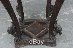 Sellette indochinoise époque XIXème en bois exotique