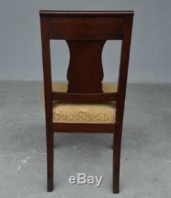 Série de 4 chaises en acajou de style Empire époque XIXème