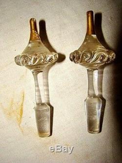 Service à liqueur en verre émaillé époque fin XIX ème