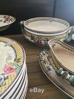 Service porcelaine Sarguemines Victoria E&C Époque XIXème siècle France