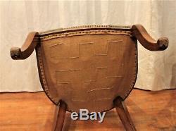 Six chaises gondoles en acajou époque Restauration XIX ème siècle