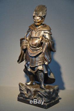Statue de gardien en bronze Japon XIXème siècle Époque Edo / Japanese Edo bronze