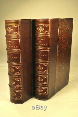 Stendhal. Rouge Et Le Noir. Lemerre. 26 Juil. 1886. Demi Chagrin Prune Epoque