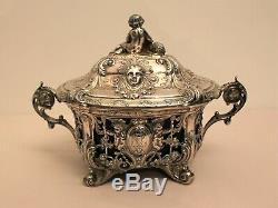 Sucrier en argent poinçon minerve orfèvre Désiré Mousset époque XIX ème siècle