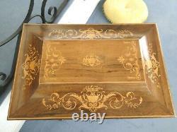 Superbe COFFRET de mariage époque Charles X XIXème COURONNE COMTALE HERALDIQUE
