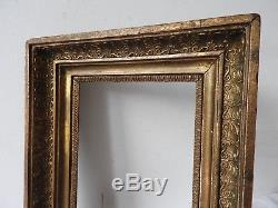 Superbe cadre doré époque Empire-Restauration, début XIXème s, monté à clefs