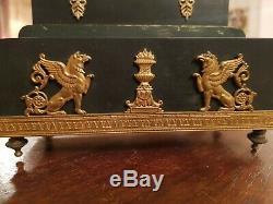 Superbe porte courrier époque Empire XIX ème s bronze doré