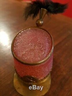 TRES RARE Porte montre ancien shako, verre givré, Baccarat époque XIX ème s