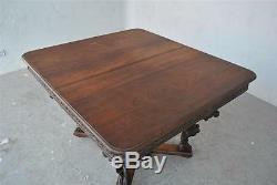 Table Indienne sculptée palissandre époque XIXème
