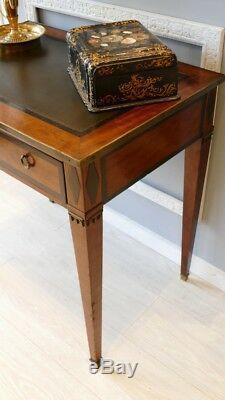 Table à écrire Style Directoire En Acajou Dessus Cuir, époque XIX ème