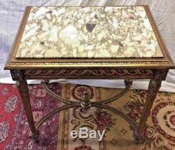 Table de milieu Louis XVI en bois doré époque XIXeme