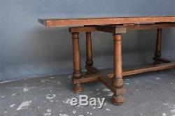 Table de monastère d'époque XIXème en chataignier