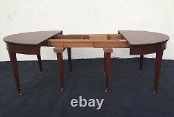 Table de salle à manger Louis XVI en acajou 8 pieds, époque XIXème siècle