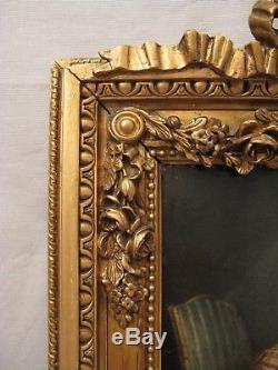 Tableau huile sur toile dans le goût de Chardin époque XIX ème siècle