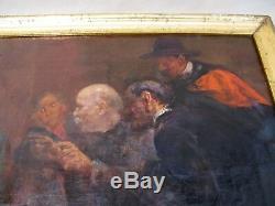 Tableau huile sur toile signé Dillon Henri époque XIX ème siècle