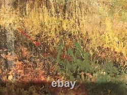 Tableau huile sur toile signé Godchaux époque XIXème siècle