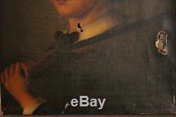 Tableau représentant un jeune chasseur Epoque XIXème