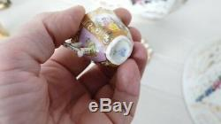 Tasse Miniature En Porcelaine De Saxe, Peinture Main, époque XIX ème
