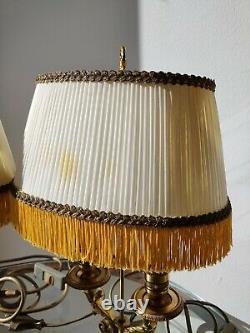 Très Belle Paire De Lampe Bouillotte En Bronze Doré/laiton Époque XIX Ème