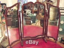 Très beau Miroir Triptyque Fin XIX eme, dans son jus d'époque