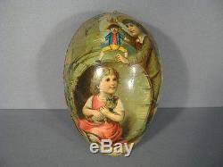 UF EN CARTON BOUILLI EPOQUE 1900 / BOITE FORME UF ENFANTS XIXème SIÈCLE