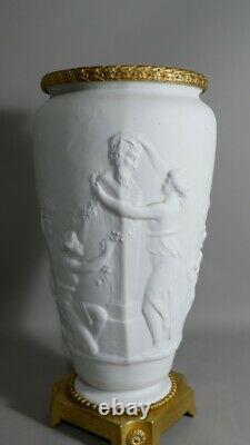 Vase Cassolette En Biscuit à l'Antique Et Bronze Doré, époque XIX ème Siècle