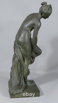 Vénus Au Bain d'Après Allegrain, Statuette En Bronze Patiné, époque XIX ème